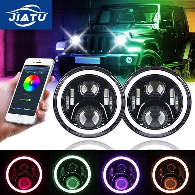7 inch 60 W H4 LED koplampen met Bluetooth Afstandsbediening Functie ...