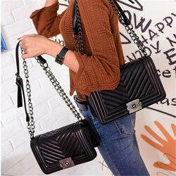 Роскошные Сумки Для женщин сумки дизайнер Винтаж искусственная кожа цепь небольшие Crossbody сумки для Для женщин 2018 Каналы Сумки sac основной