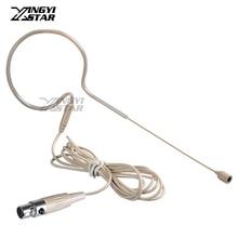 Цвет кожи мини XLR 4 Pin TA4F проводной один Заушник конденсаторный микрофон гарнитуры для Shure беспроводной системы поясной передатчик