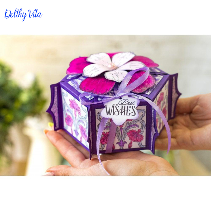 Candy box Metal Cutting Die Cut Bag 2019 New die Stencils For Card Making Decorative Suit DIY Paper Stamp template Сумка