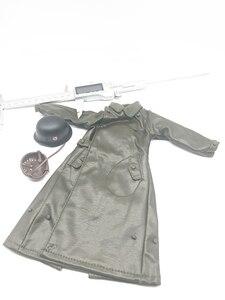 Image 2 - 1:6 スケール兵士ロングレザーコートヘルメット服モデル 12 インチアクションフィギュア