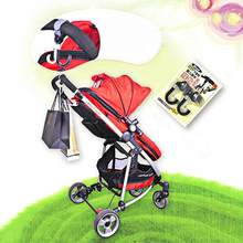 2Pcs/Set ABS Baby Stroller Hooks Portable Pram Storage Bag Hook Plastic Baby Cart Wheelchair Pushchair Hanger Stroller Accessory(China)
