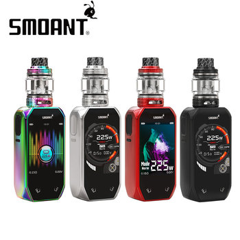 Original Smoant Naboo 225W TC Kit w/ 4ml/2ml Naboo Tank & Updated Ant225 Chipset 2+1 UI Options No 18650 Battery vs Smoant Cylon