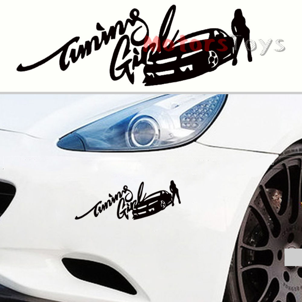 Best car sticker design - 1pc Best Selling Jdm Racing Tuning Girl Hellaflush Drift Vinyl Car Sticker Decal China