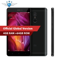 Xiaomi Redmi Note 4 64GB Global Version 4GB Smartphone Snapdragon 625 Octa Core 5.5'' 1080P Fingerprint 13MP FCC CE OTA MIUI8.5