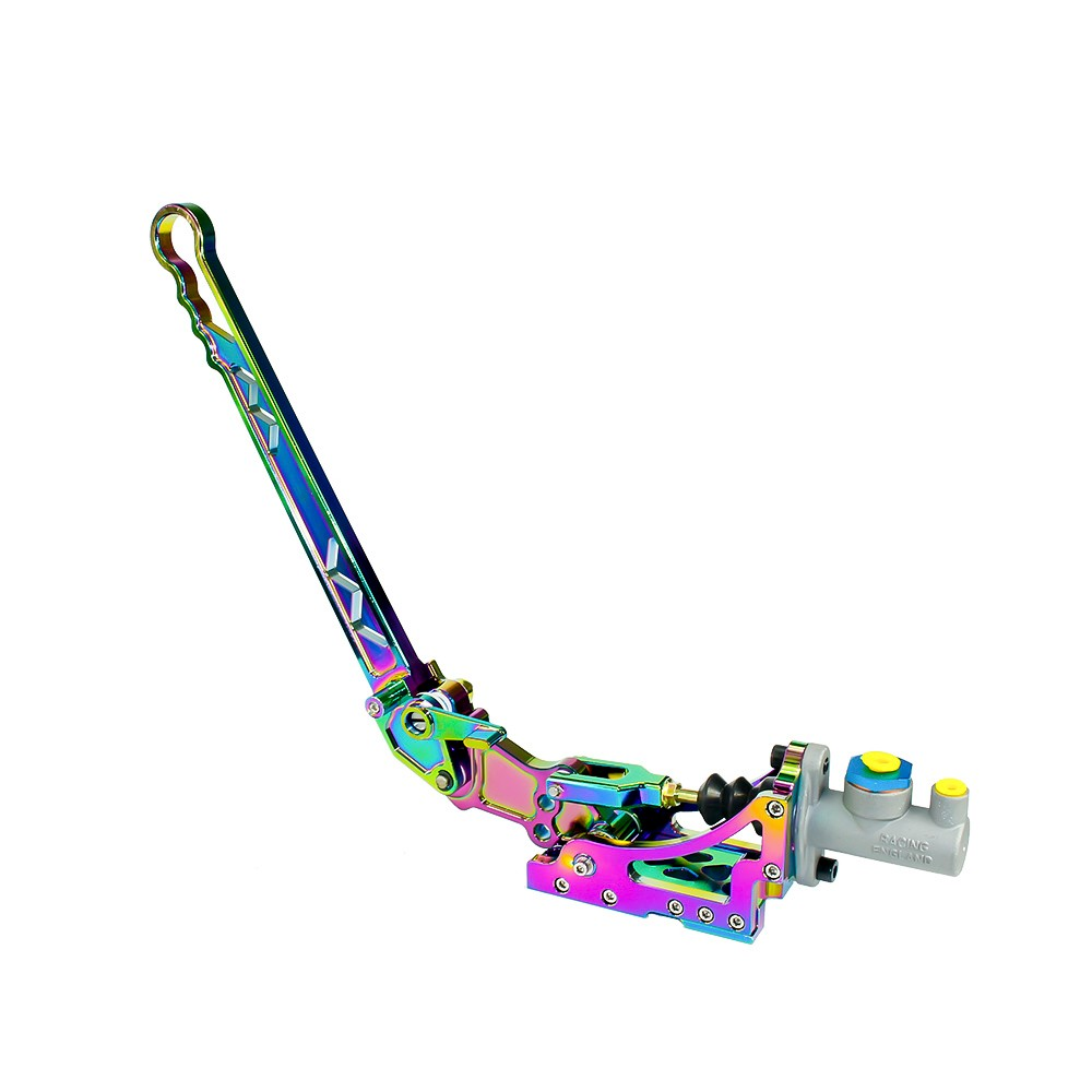 Racing Aluminum Adjustable Vertical Hydraulic Drift  Neo Chrome Handbrake With Gear + Special Master Cylinder TT100854-NC neo chrome adjustable e brake hydraulic drift racing handbrake hand brake vertical horizontal s14 ae86