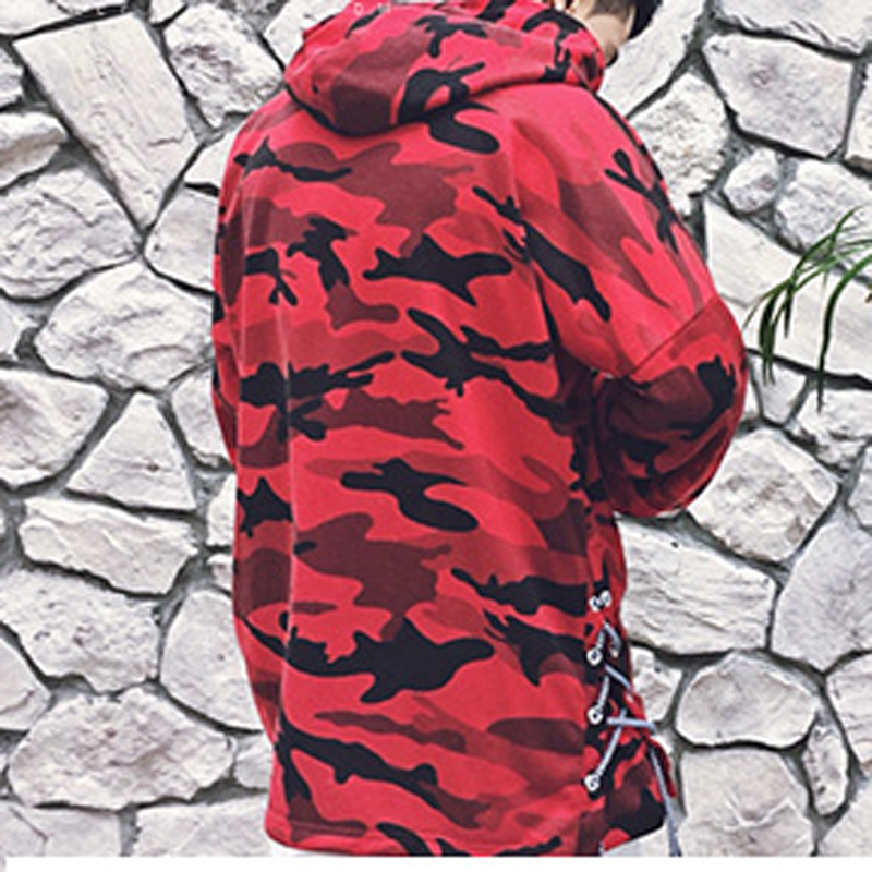 HEYGUYS HOT 2018 red camouflage hoodie men fashion sweatshirts brand orignal design casual pullover for me autumn 1