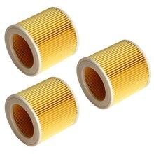 3 pezzi di alta qualità sacchetto di polvere per Karcher aspirapolvere filtro aria di ricambio accessori filtro HEPA WD2250 WD3.200 MV2 MV3