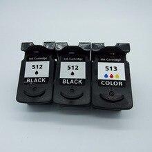 3 x картриджи для Canon PG-512 XL PG-512XL PG 512 PG512 CL-513XL CL513 Pi x mA MP260 MP270 MP272 MP280 MP282 струйный принтер