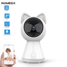 INQMEGA 1080P HD chmura Wifi kamera inteligentne automatyczne śledzenie kot Kitty IP bezprzewodowa kamera bezpieczeństwa w domu kamera Night Vision