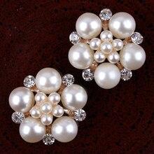 120 adet/grup 23mm Temizle Alaşım Kristal Flatback Düğmeler Çocuklar Kızlar için saç aksesuarları/Süsler Bling Metal Taklidi Düğmeleri