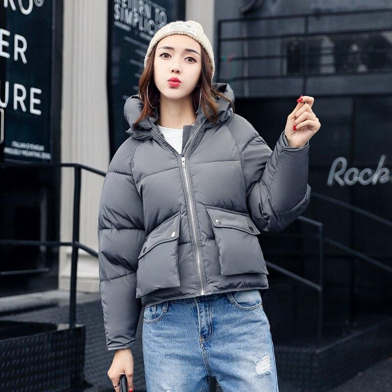 Winter Mode Frauen Jacken Kurze Design Nette Baumwolle Gepolsterte Rosa Mäntel Causual Warme Hoodies Lose Padded Parkas Casaco Feminino Heimtextilien