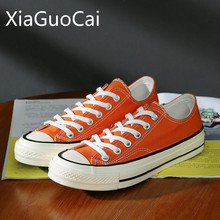 Newest Spring and Summer Women Canvas Shoes 1970s Orange Ret