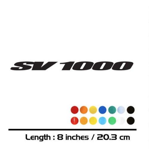 8 x SUZUKI SV RACING WHEEL RIM STICKERS  DECALS SV650 SV 1000 B