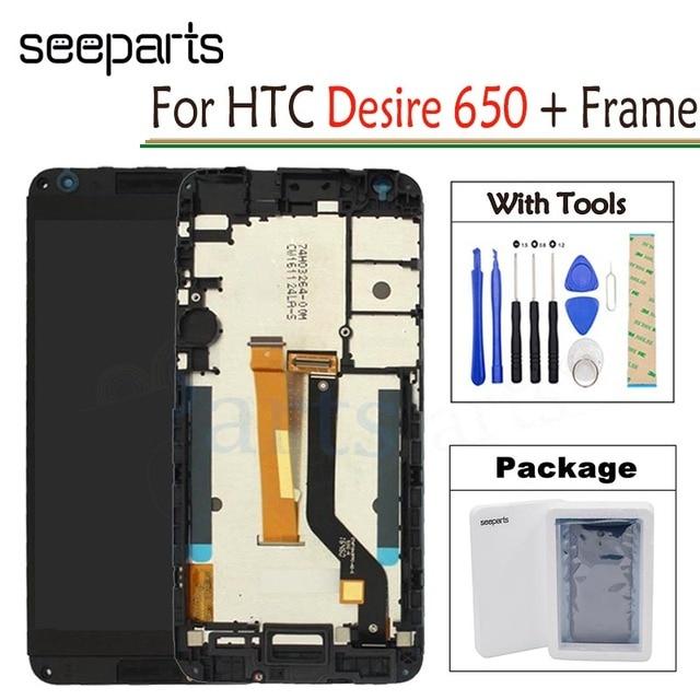 """Dla HTC Desire 650 wyświetlacz LCD ekran dotykowy Digitizer zgromadzenie 5.0 """"telefon komórkowy wymiana części naprawa dla HTC Desire 650 LCD"""