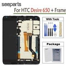 ЖК дисплей для HTC Desire 650, дигитайзер сенсорного экрана в сборе, 5,0 дюйма, мобильный телефон, запасные части для HTC Desire 650, ЖК дисплей