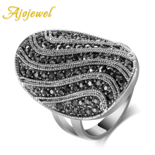 aneis de ouro size 7-9 new 18K White Gold Ring vintage womens fashion Jewelry