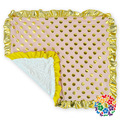Babys Gold Dot Receiving Blankets Ruffles Hem Infant Fashion Fleece Lining Cute Warm Receiving Blankets 70cm*90cm