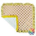 Ouro Dot Receber Cobertores Babys Babados Hem Infantil Moda Forro de Lã Quente Bonito Receber Cobertores 70 cm * 90 cm
