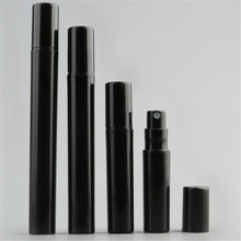 10pcs/lot Empty 2ML 3ML 5ML 10ML Mini Black Plastic Spray Perfume Bottle Small Promotion Sample Atomizer