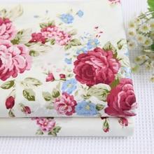 width 160cm*50cm 100% cotton bedding fabric rose bedding bed sheet duvet cover handmade diy quilting fabric sewing tecidos