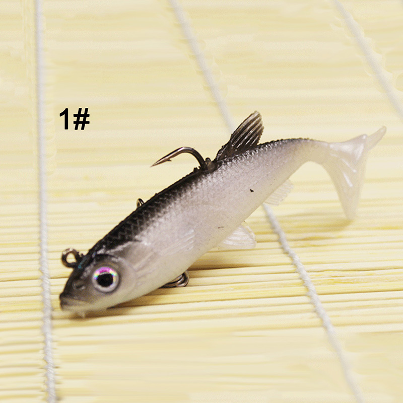 B 1 Piece Fishing Bait 8-9cm Artificial Bait Lead Soft Bait Outdoor Fishing Supplies Five Styles Available
