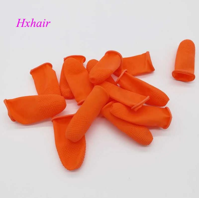 100 piezas de seguridad de aislamiento de calor dedo Protector cunas/escudos antideslizante antiestático el dedo para pelo de la queratina