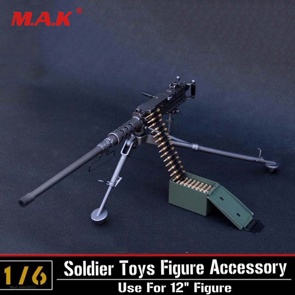 1/6 Scale Model US Army Browning M2 Machine Gun,Cal. .50, M2HB,Flexible Weapon Toys For Action Figure Accesssories