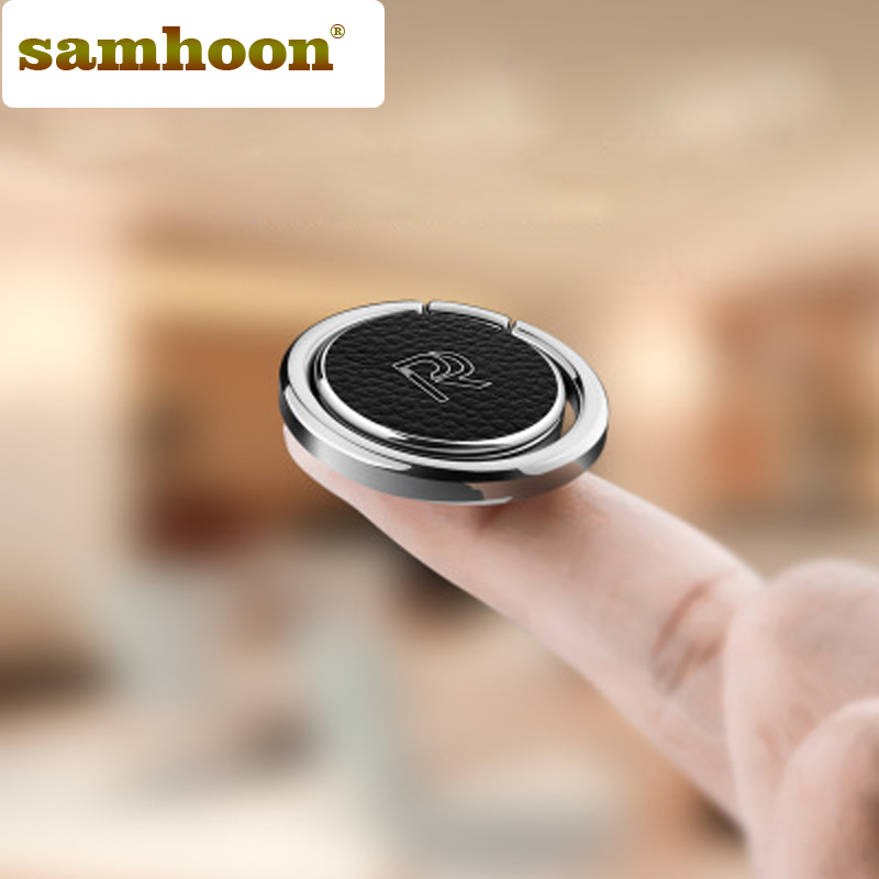 Luxury 360 Degree Metal Finger Ring Holder Smartphone Mobile Phone Finger Stand Holder For iPhone X 8 7 6 Samsung Tablet Redmi smartphone