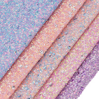 1/2 Yard Chunky Glitter Leather Sheets Faux Synthetic Leather Fabric For Bows Handbags Sewing Accessories