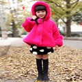 Retail 2016 Fashion Baby Girls Outerwear Coat Children thickening faux fur jacket Kids Winter solid Hooded Warm Cotton Clothes