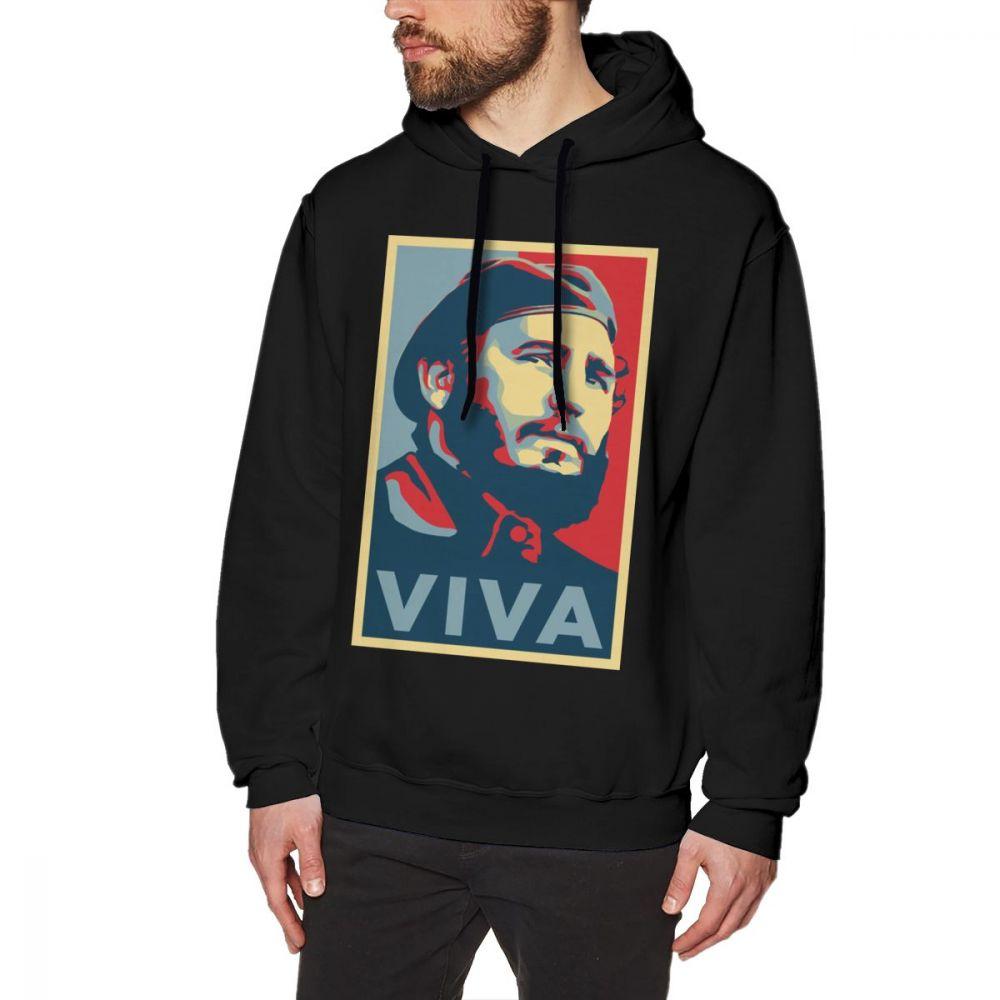Fidel Castro Hoodie  Fidel Castro Hoodies Loose Big Pullover Hoodie Mens Cotton Long Sleeve Autumn Nice Black Hoodies