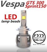 Motoecycle Headight Roller Nebel Scheinwerfer LED Moto Arbeits Spot Licht Kopf Lampe Für Vespa GTS 300 SPRINT 150 Scheinwerfer