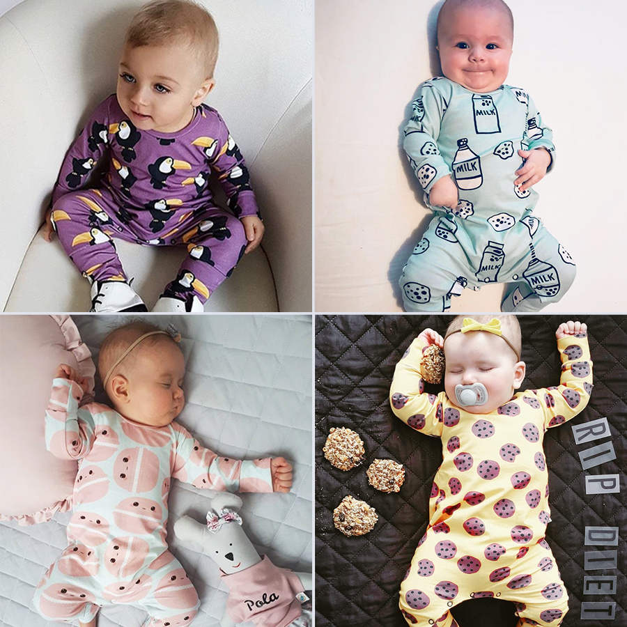 8e450e0e3c62 Baby Rompers Cloud Raindrop Print Tiny Cottons Newborn Boys Romper Girls  Clothes Print Infant Baby ClothingLong Sleeved Jumpsuit
