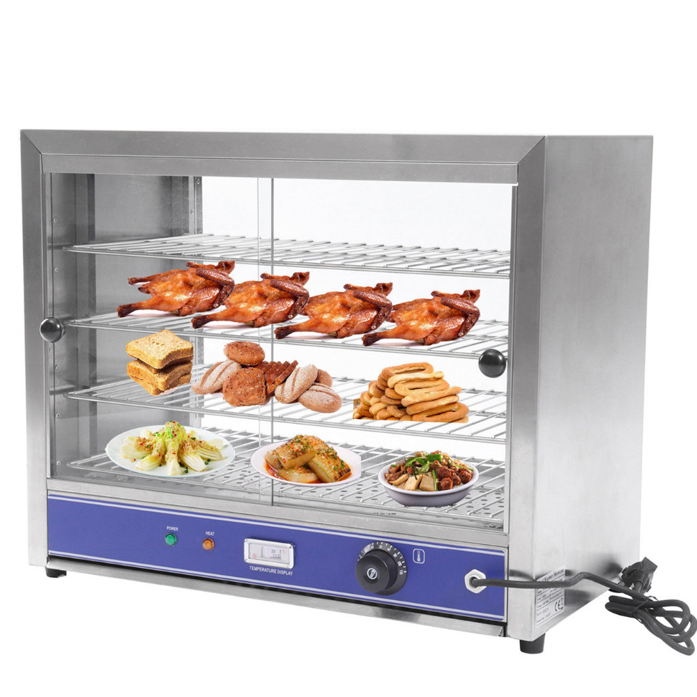 4-Tier 1000W Electric Counter Showcase Top Heated Display Cabinet Pie Warmer Food Warmer hot dog display electric food warmer stainless steel food warmer cabinet warmer showcase warmer display