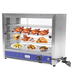 4-Tier 1000W Electric Counter Showcase Top Heated Display Cabinet Pie Warmer Food Warmer