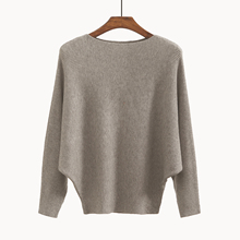 Women's Sweaters and Pullovers Coat Batwing Sleeves Loose Cashmere Sweatershirt Turtleneck Female Wool Knitted Brand Jumpers(China)