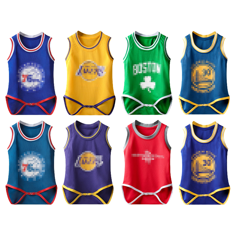 Baby Unisex Basketball Suit Climb   Rompers   Children Sport Jumpsuit Kids Cotton Long Sleeve Soccer Clothes Basketball Club