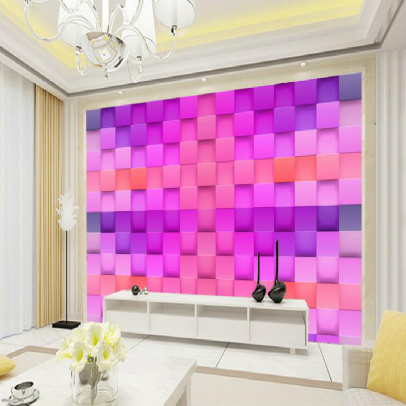 ୧ʕ ʔ୨Stereoscopic 3D Geometry Large Mural Wallpaper Living Room ...