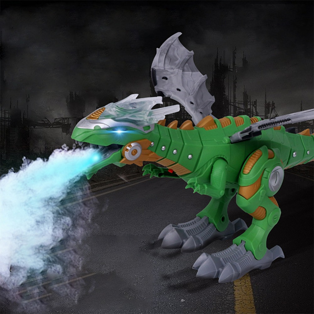 Electric Toy Large Size Walking Spray Dinosaur Robot Breathing With Light Sound Mechanical Dinosaurs Toys For Kids Children
