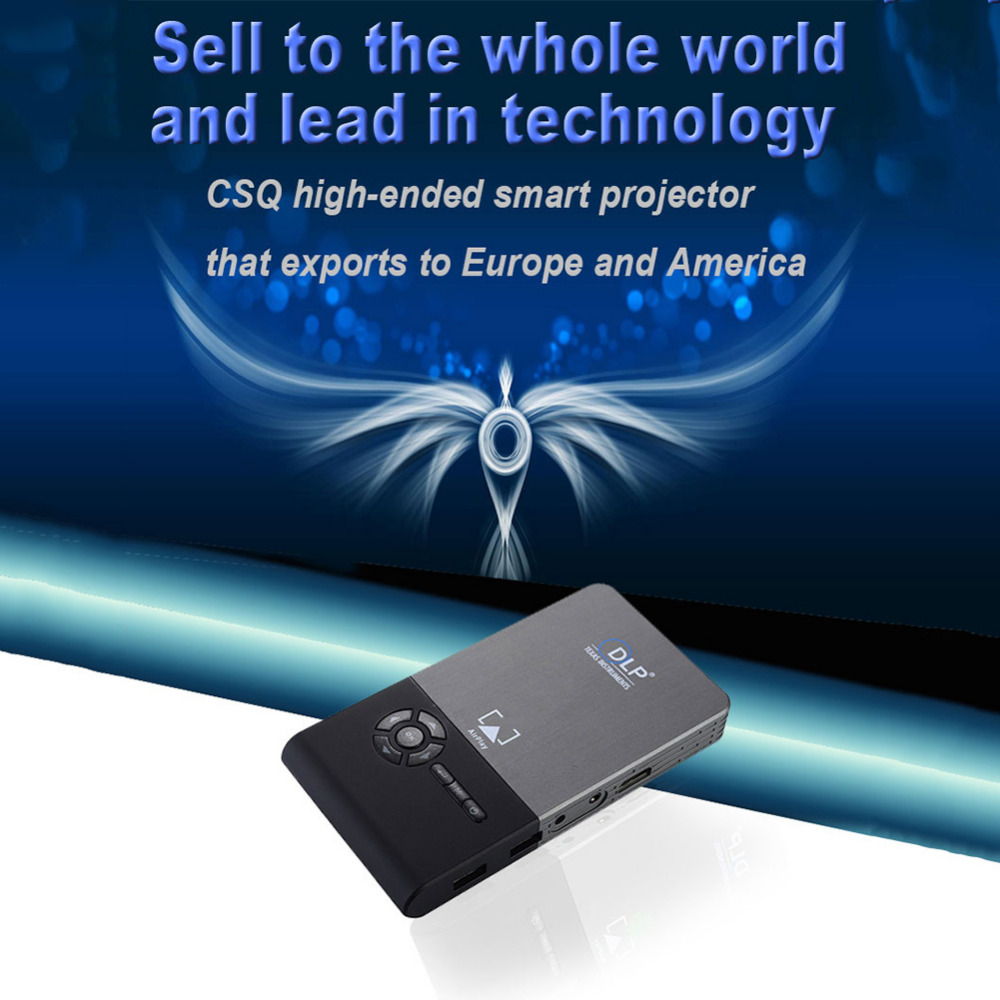 2018 New Mini Smart Projector Quad-core 8GB Smart TV Box Wifi Full HD 1080P  3D Home Theater Projector Compatible for Android OS