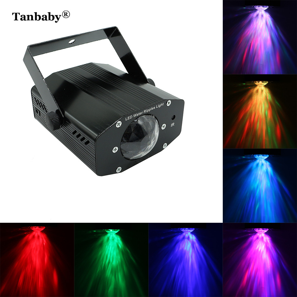 Tanbaby 7 Colors Ocean Wave Disco Stage Light Sound DMX 100-240V 9W LED DJ Light Auto-run Active Laser Projector with Controller tanbaby multicolor ocean wave led projector night light with built in music player and remote control for baby kids children