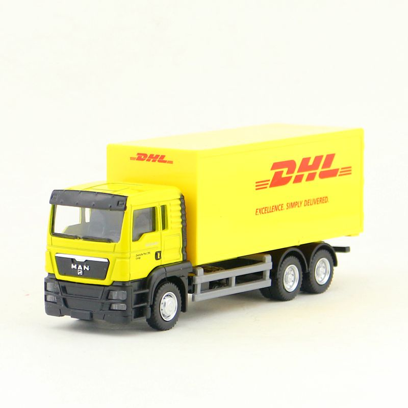 RMZ City/Diecast Toy Car Model/1:64 Scale/MAN DHL Container Delivery Truck/Vehicle Educational Collection/Gift For Children