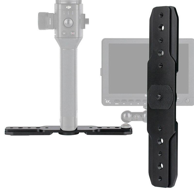 DH05 Stabilisateur Expansion Plaque Externe Magie moniteur bras Microphone Extension 1/4 trou de vis pour DJI Feiyu Cardan