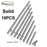 Probrico 10 PCS Solid Stainless Steel CC 50mm~256mm Cabinet Knob Furniture Drawer Handle Cupboard Pull USA Domestic Delivery