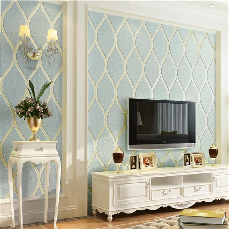 beibehang papel de parede European TV background wallpaper 3d non-woven simple wall paper bedroom living room striped wallpaper beibehang mediterranean blue striped 3d wallpaper non woven bedroom pink living room background wall papel de parede wall paper