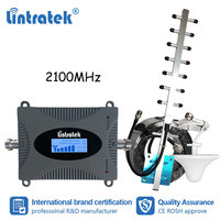 Lintratek MINI 3G WCDMA 2100mhz Celular Signal Booster UMTS LTE Band 1 2100 Repeater Amplifier Ceiling Antenna 10m Cable Kit dk