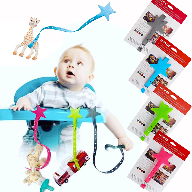 New Sale Baby Stroller Toys Teether Pacifier Chain Strap Holder Belt Saver Baby Teether Silicone Anti-Drop Hanger Belt