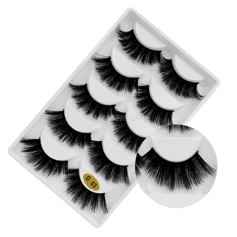 HTB1GbJMXLLsK1Rjy0Fbq6xSEXXaD New 3D 5 Pairs Mink Eyelashes extension make up natural Long false eyelashes fake eye Lashes mink Makeup wholesale Lashes