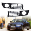 DWCX 8E0807681 8E0807682 2pcs Front Left Right Insert Bumper Fog Light Grille Protective Mesh For Audi